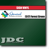 GF Direct (517) Forest Green Sign Vinyl Removable Matte Sign Vinyl | GF CC500MR | 24 in. x 150 ft. Wholesale Craft Sign Vinyl Monroe GA 30656