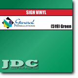 GF Direct (519) Green Sign Vinyl Removable Matte Sign Vinyl | GF CC500MR | 24 in. x 150 ft. Wholesale Craft Sign Vinyl Monroe GA 30656