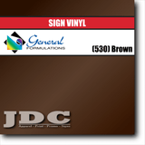 GF Direct (530) Brown Sign Vinyl Removable Matte Sign Vinyl | GF CC500MR | 24 in. x 150 ft. Wholesale Craft Sign Vinyl Monroe GA 30656