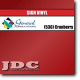 GF Direct (536) Cranberry Sign Vinyl Removable Matte Sign Vinyl | GF CC500MR | 24 in. x 150 ft. Wholesale Craft Sign Vinyl Monroe GA 30656