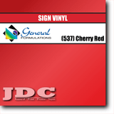 GF Direct (537) Cherry Red Sign Vinyl Removable Matte Sign Vinyl | GF CC500MR | 24 in. x 150 ft. Wholesale Craft Sign Vinyl Monroe GA 30656