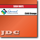 GF Direct (544) Orange Sign Vinyl Removable Matte Sign Vinyl | GF CC500MR | 24 in. x 150 ft. Wholesale Craft Sign Vinyl Monroe GA 30656