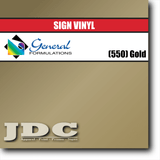 GF Direct (550) Gold Sign Vinyl Removable Matte Sign Vinyl | GF CC500MR | 24 in. x 150 ft. Wholesale Craft Sign Vinyl Monroe GA 30656