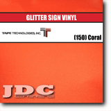 Tape Technology (150) Coral Sign Vinyl Glitter Sign Vinyl | 12 in. x 12 in. Wholesale Craft Sign Vinyl Monroe GA 30656