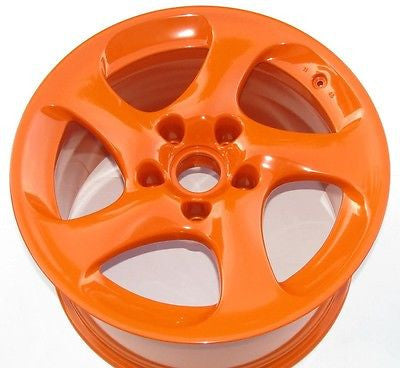 High Gloss Orange Powder Coated Rims