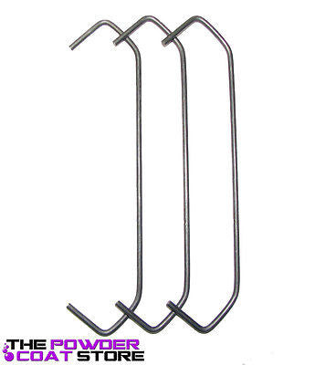"Powder Coating Hooks -  V Hooks .120 x 6"" (50 Hooks) Up to 56 LBS! - Hanging Hooks"