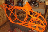 KTM Orange Powder Coat Powder Coated Frame