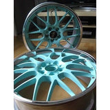 Tiffany Blue Powder Coated Wheels