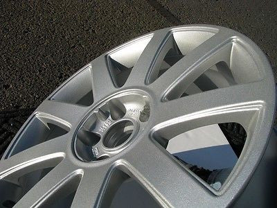 Metallic Silver Powder Coated Rims