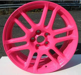 Neon Pink Powder Coated Rims