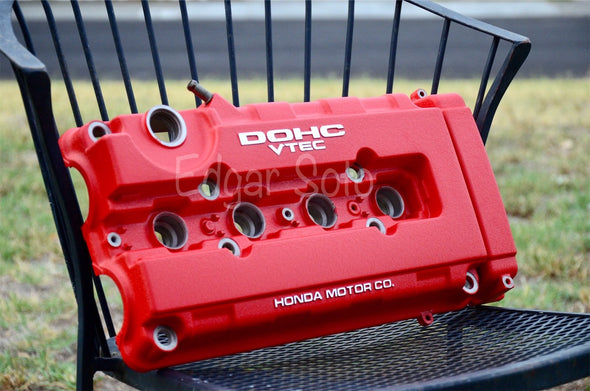 Red Wrinkle Powder Coat Valve Cover