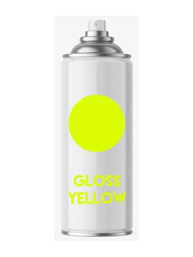 High Gloss Yellow Aerosol Spray Paint - Aerosol
