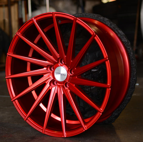 Anodized Candy Red Powder Coat