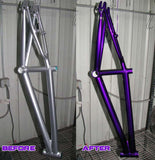 Dormant Purple Powder Coated Bike Frame