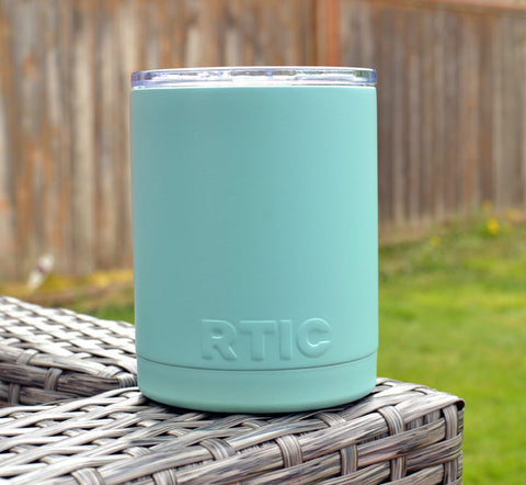 Flat Tiffany Blue Powder Coated RTIC Tumbler Cup