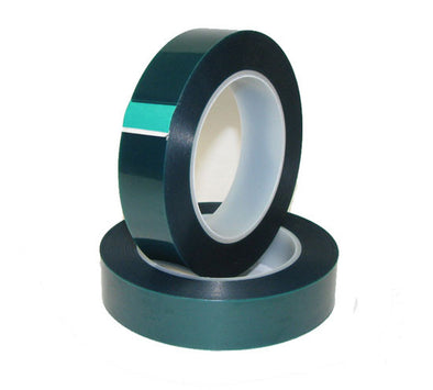 1 Inch x 72 yds - High Temperature Polyester Green Masking Tape - High Temp Tapes