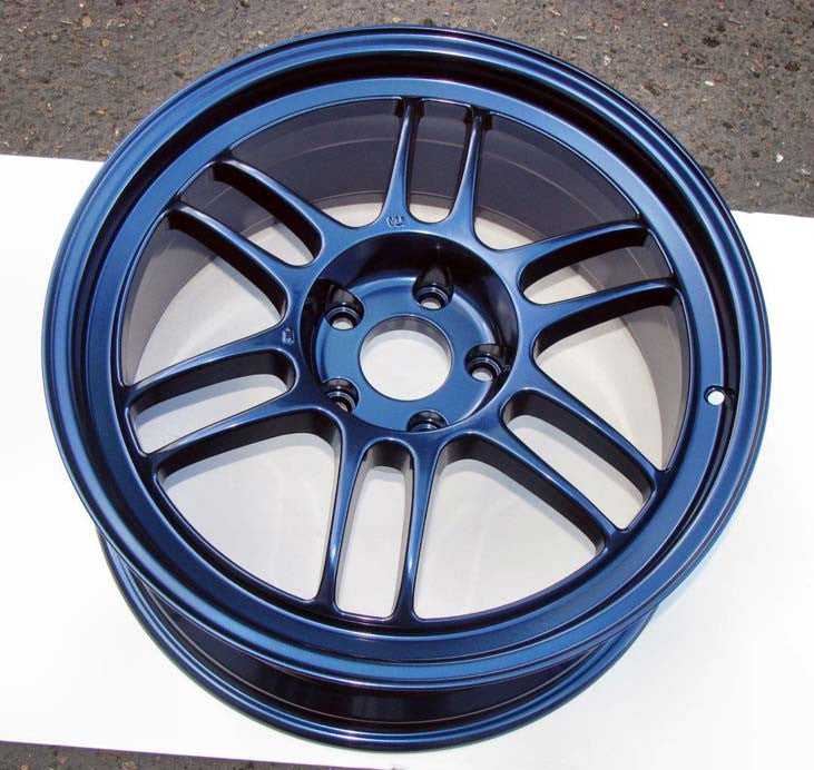 Midnight Blue Metallic Powder Coat Paint