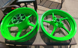 Neon Green Powder Coated Rims