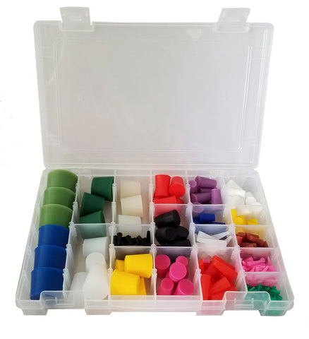 High Temp Silicone Plug Kit for Paint and Powder Coat - 250+ Pieces! - Plug and Cap Kits