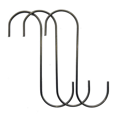 "Powder Coating Hooks -  S Hooks .080 x 4"" (50 Hooks) Up to 17 lbs!"