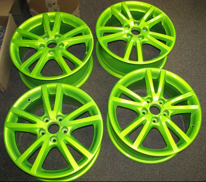 Shocker Yellow Powder Coated Rims