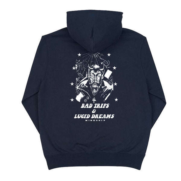 (Glow in the Dark) Bad Trips Hoodie - Navy