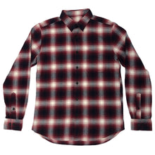 Downtown Flannel - Red/Navy/White