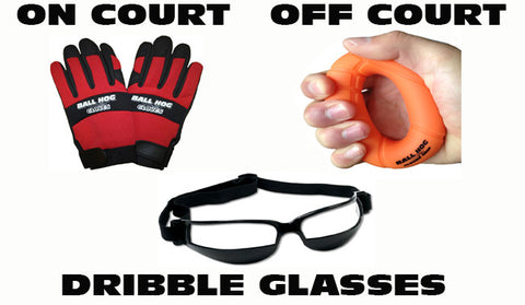 Ball Hog Gloves X-Factor, Grip & Dribble Glasses Bundle