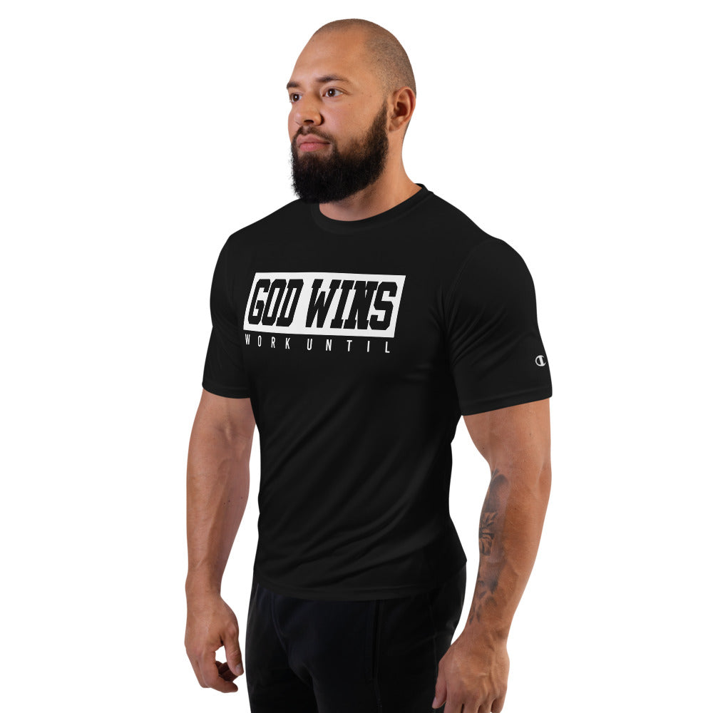 GOD WINS (100% polyester) Performance T-Shirt