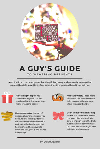 guys' guide to wrapping presents infographic