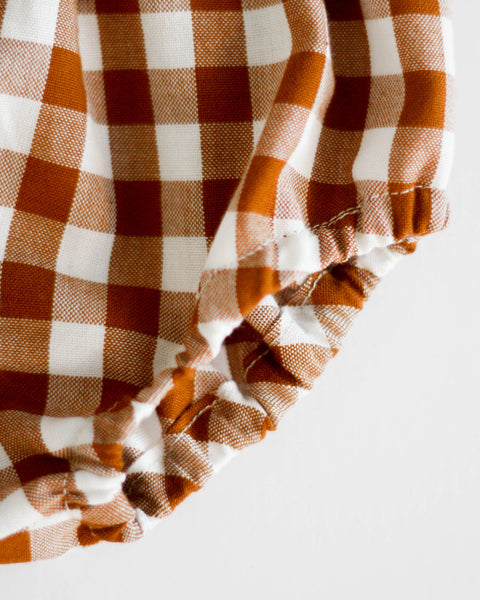 Bloomers | Cinnamon Gingham - Pine + Honey