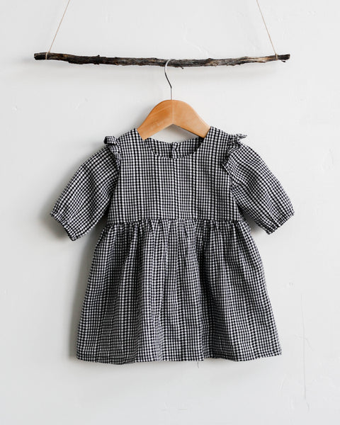 Sylvie Dress | Woven Gingham - Pine + Honey