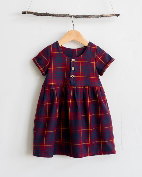 Marta Dress | Godric Plaid - Pine + Honey