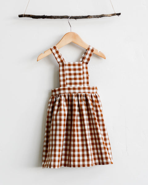 Pinafore | Cinnamon Gingham - Pine + Honey