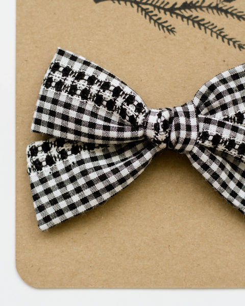 Oversized Classic Bow | Woven Gingham