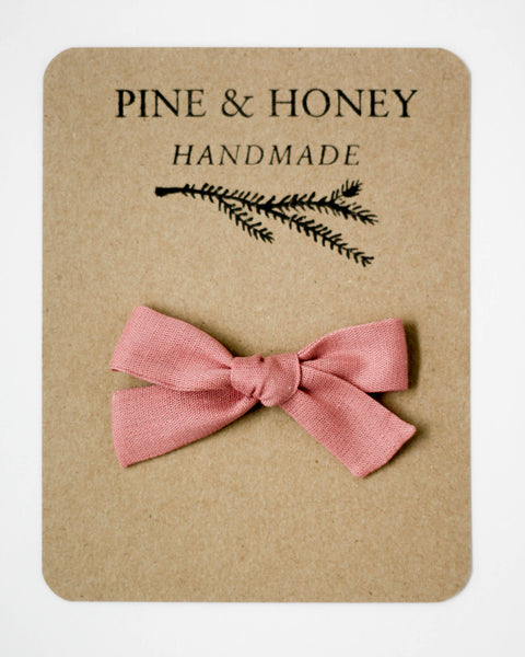 Classic Bow | Dusty Rose - Pine + Honey