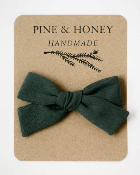 Oversized Classic Bow | Peacock Green - Pine + Honey