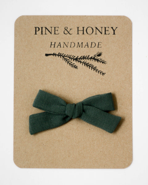 Classic Bow | Peacock Green - Pine + Honey
