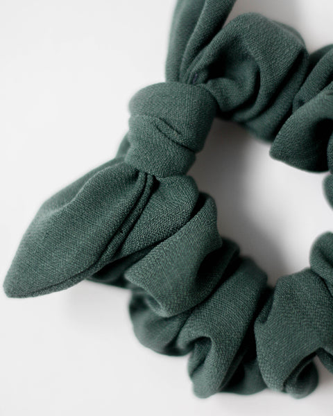 Scrunchie | Peacock Green - Pine + Honey