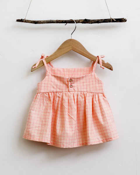 Josie Top | Pink Grid - Pine + Honey