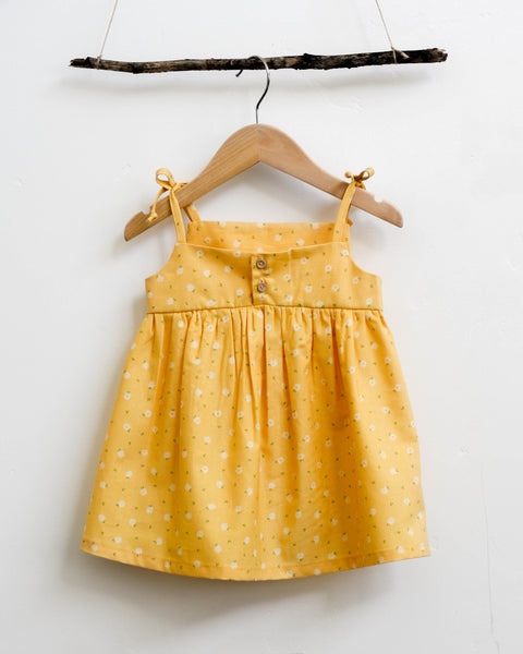 Josie Dress | Yellow Daisy - Pine + Honey