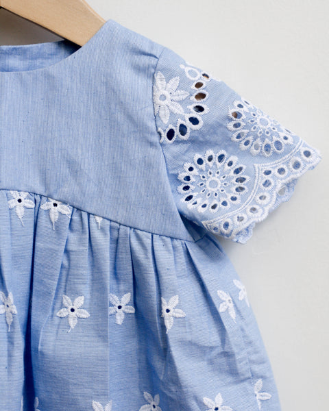 Norah Dress | Blue Lace - Pine + Honey