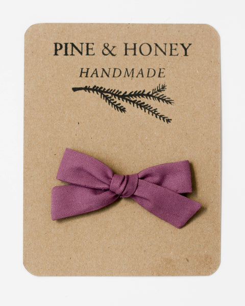 Oversized Classic Bow | Taupe Gingham - Pine + Honey