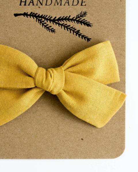Oversized Classic Bow | Honey - Pine + Honey