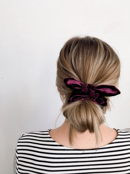 Scrunchie | Cranberry Velvet