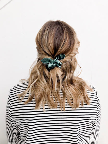 Mini Scrunchie | Evergreen Velvet - Pine + Honey