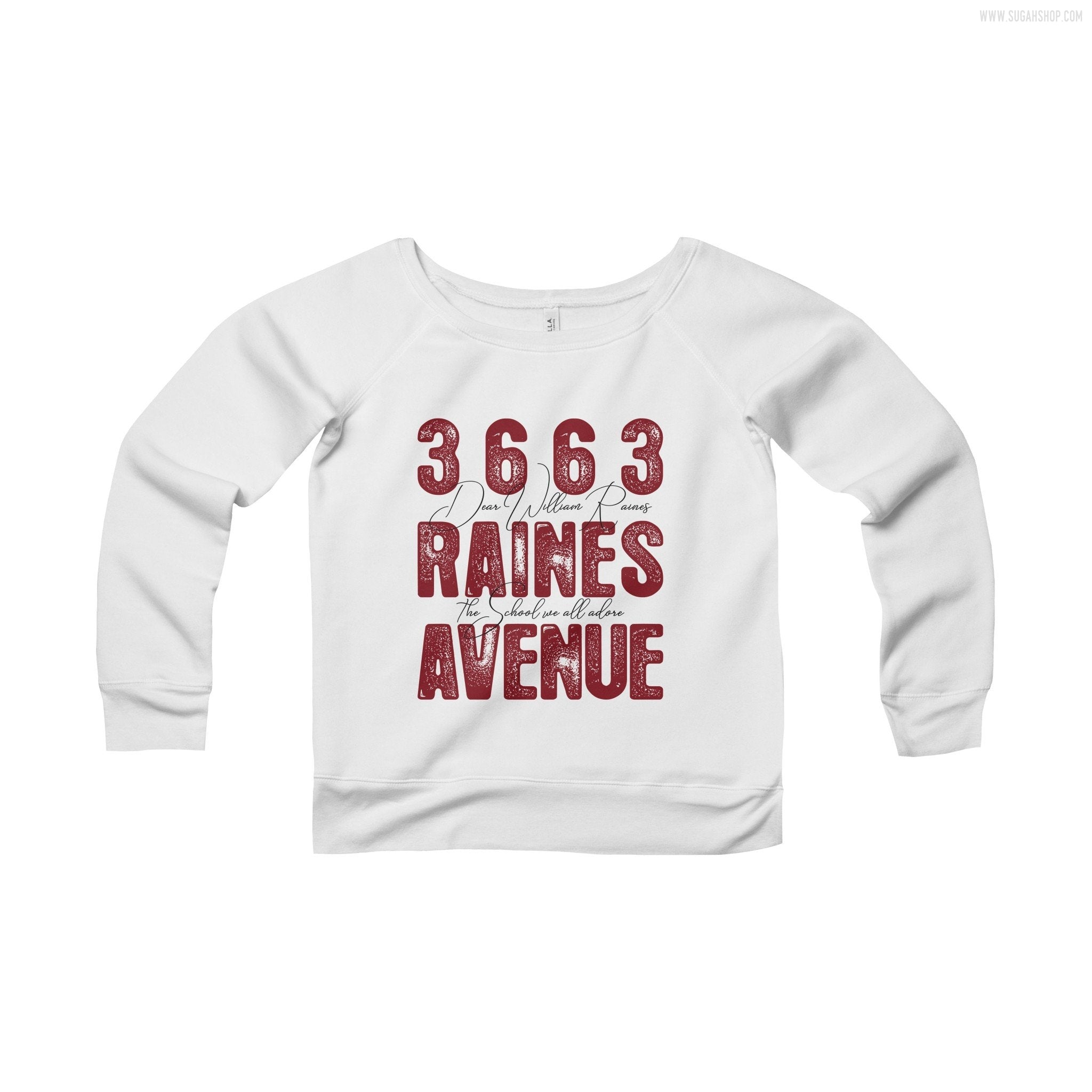 Raines Ave. Women's Sponge Fleece Wide Neck Sweatshirt