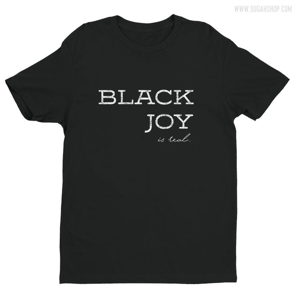 BLACK JOY WHITE Short sleeve men's t-shirt