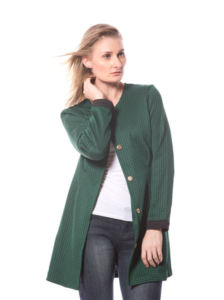 BOTTLE GREEN COAT