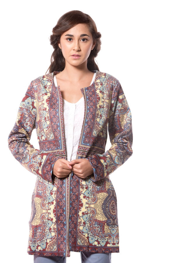 PAISLEY PRINTED JACKET